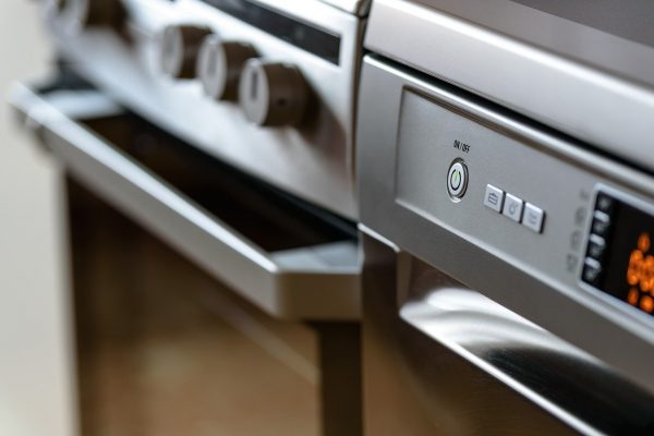 modern kitchen, household appliances, cooker